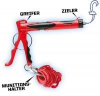 Micro Blaster - Gummiband Schleuder mit Kuli-Funktion